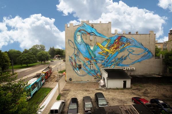 mural w Łodzi