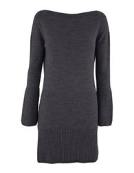 Celtic Sheepskin Boat Neck Dress graphite Gray S (on me, M, am 10-12)