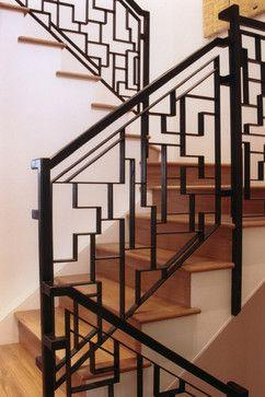 ART DECO STAIRCASES | Douglass Street Art Deco Moderne contemporary staircase