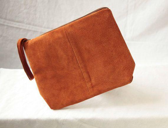Upcycled Leather Clutch by KatEyeKrafts on Etsy, $45.00