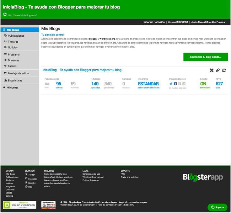BlogsterApp, la aplicación que te ayudará a difundir tu blog en las redes sociales. #cm #startup | iniciaBlog - Te ayuda con Blogger para mejorar tu blog