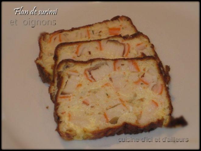 Recette Entrée : Flan de surimi et oignons - recette dukan par Cuisine d'ici et d'ailleurs