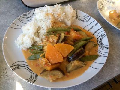 Diary of a Sauce Pot: Butternut Squash & Aubergine Red Thai Curry