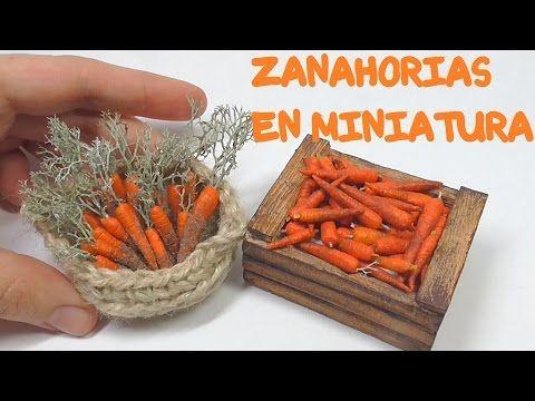ZANAHORIAS EN MINIATURA PARA BELEN Y CASAS DE MUÑECAS - YouTube