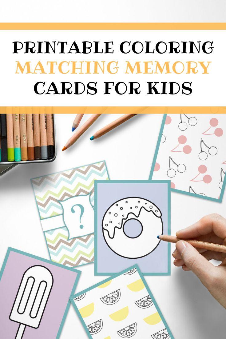 Printable Matching Memory Game for Kids, Coloring Matching