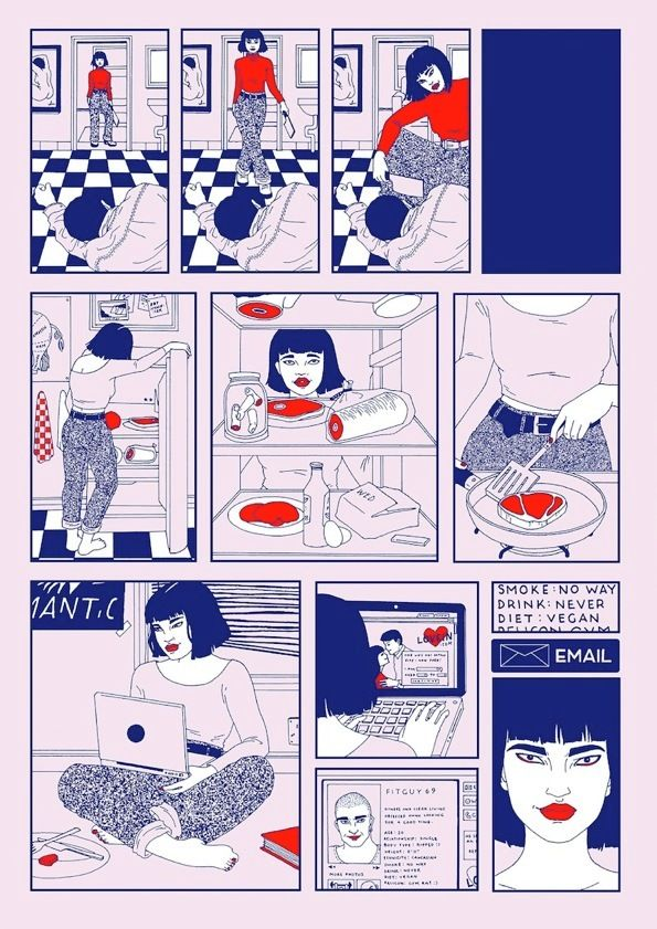 ILLUSTRATION Murderous Tinder dates and femmes fatales in Laura Callaghan's First Date
