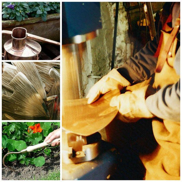 Narzędzia ogrodnicze wyrabiane ręcznie, przez doświadczonych kowali, przy użyciu tradycyjnych metod.