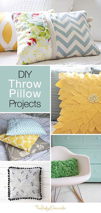 DIY Throw Pillow Projects • Great Ideas & Tutorials!