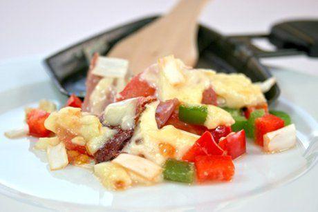 Raclette mit Salami - Rezept