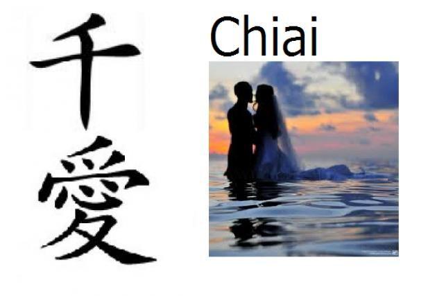 Nombre compuesto: Chi (mil) + Ai (amor)  Significado: Mil amores / amor eterno  Pronunciación: Chiai  Nombre de: Chica