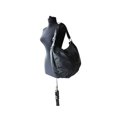 Sabrina Black Italian Leather Hobo Bag - £64.99