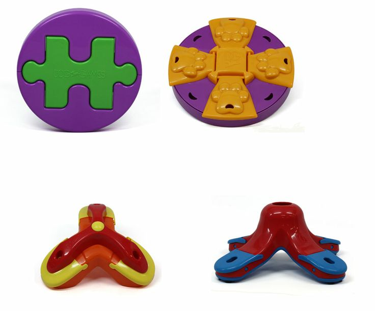 Introducing Treat Triad Game, Paw Flapper Game, Jigsaw Game & Kibble Drop Game, a new toy that occupies and challenges dogs' cognitive skills. .