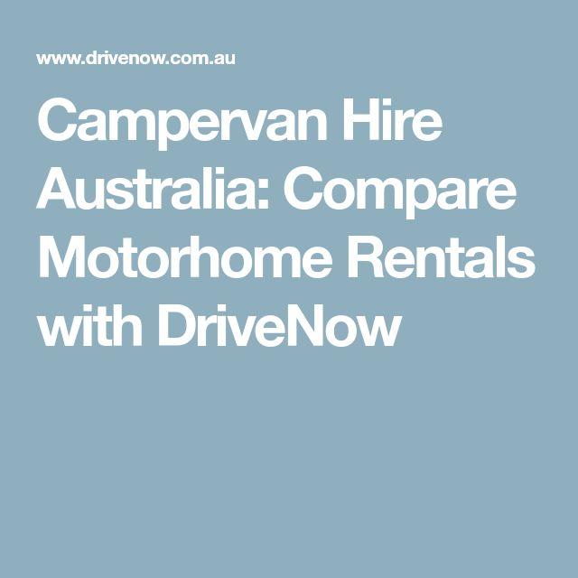 Campervan Hire Australia Compare Motorhome Rentals With DriveNow