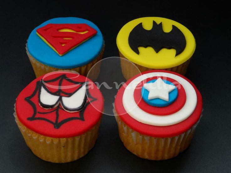 Los Super Cupcakes, los iconos de tus heroes favoritos! / The SUPERHERO Cupcakes!