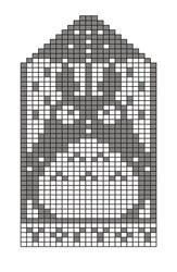 Totoro perler bead pattern