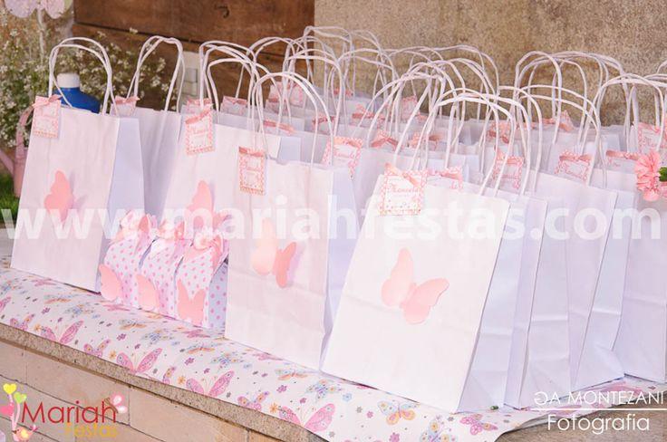 Jardim das borboletas, sacolas personalizadas by Mariah festas.