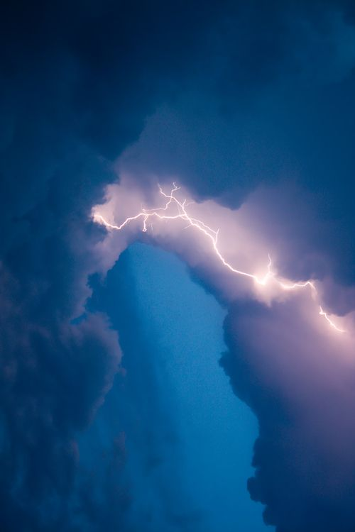 Lightning from cloud to cloud