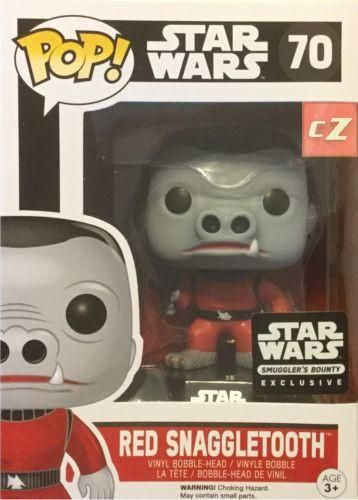 Funko Pop! Star Wars: Smugglers Bounty Exclusive Red Snaggletooth #70 *New In Box*