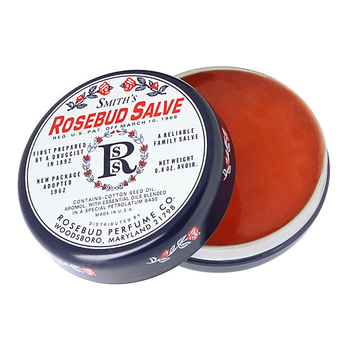Image result for ROSEBUD PERFUME COMPANY Lip Balm in a tin