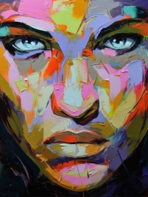 Francoise Nielly paintings: I like to connect with the eyes of a portrait and these ones draw you in. The texture on the piece is also amazing and makes you want to study it close up
