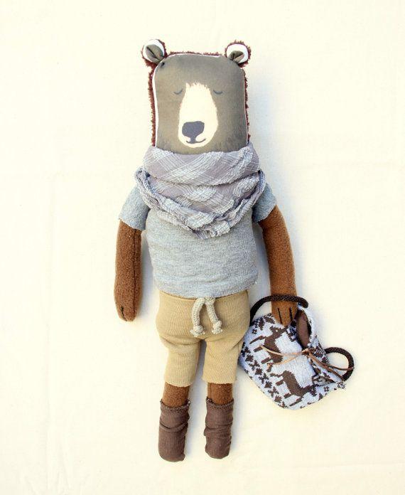 VAGABON BEAR SET teddy bear set teddy bear art by NATURALLIVINGpl