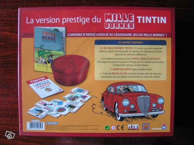 coffret mille bornes tintin edition prestige jeux jouets val de marne tintin milou. Black Bedroom Furniture Sets. Home Design Ideas