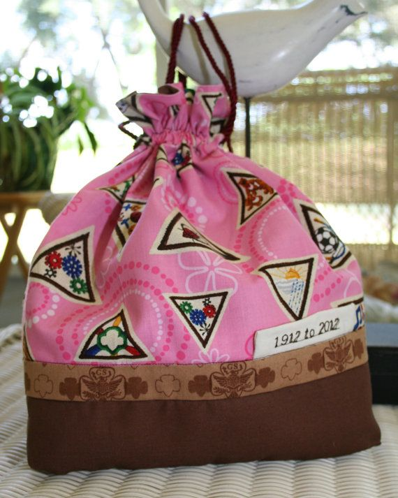 Pink Brownie Girl Scout Joy Basket Bag by TerrysTreasures777