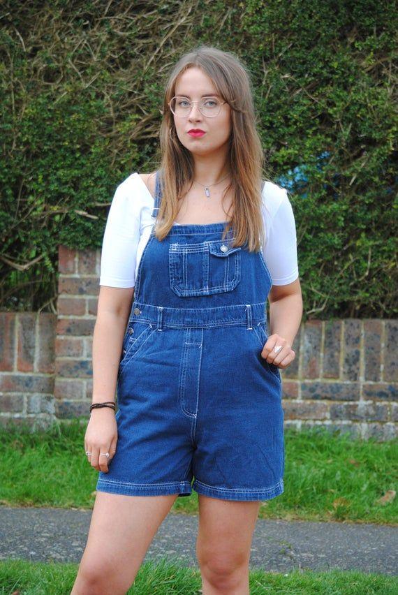 Blue Denim Dungarees Vintage Blue Denim Overalls Vintage Dungaree Shorts Women/'s Blue Denim Vintage Dungarees Shorts Blue Denim Overalls
