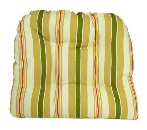American Mills Alex Stripe Indoor/Outdoor Dining Chair Pad, Set of 2 by American Mills. Save 21 Off!. $31.77. Made in USA. Spot clean only. Dining chair pads feature ties to hold in place. Fabric is suitable for indoor our outdoor use. UV resistant, mold and mildew resistant. Update your home or patio decor with a set of chair pads. Cushions are constructed of materials that are suitable for use both outdoors and indoors. UV-resistant, Mold and mildew resistant. Spot clean only. ...