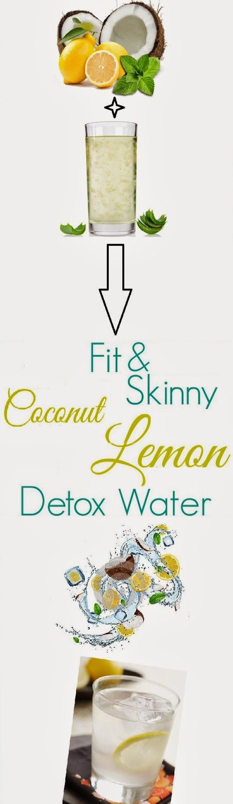 Skin Care And Health Tips: Fit & Skinny Coconut Lemon Detox Water Recipe 1/2 C Coconut Water 2 T Lemon Juice 2 T Pure Aloe Vera Juice 1 C Filtered Water