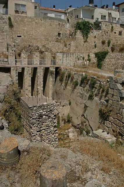 Pools of Bethesda by Seetheholyland.net, via Flickr.  Click on photo to connect to the website where there are many Holy Land photos.