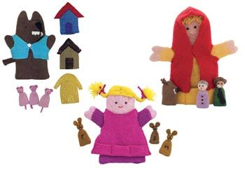 Fairtrade Handmade Puppets Set of 3