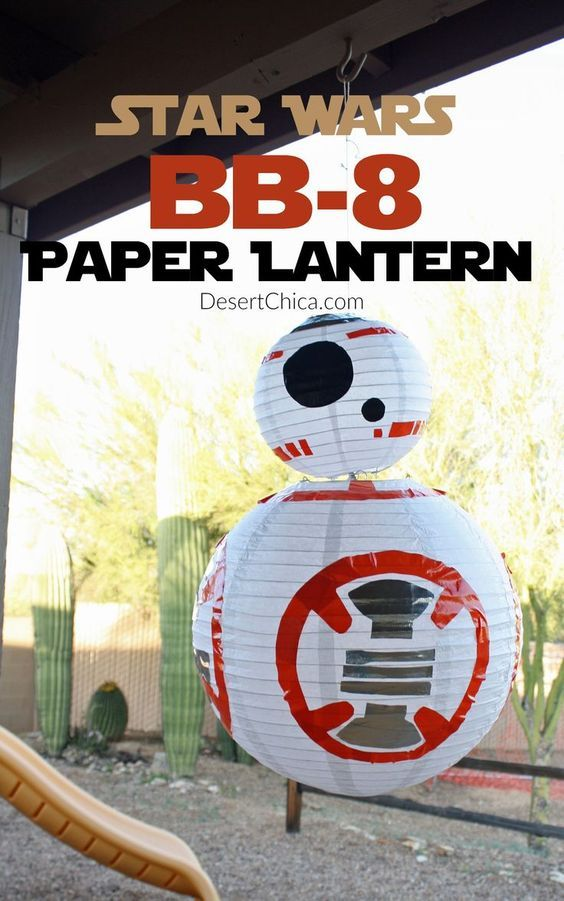 How to make a DIY Star Wars BB-8 Paper Lantern! This is a fun party decoration…