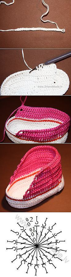 Learn how to knit Boots - Sneakers for kids