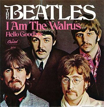 "The Beatles - I Am The Walrus,6th Nov 1967, Working at Abbey Road studio in London, The Beatles mixed four songs, 'Hello Goodbye', 'Your Mother Should Know', 'Magical Mystery Tour' and 'I Am the Walrus'. Due to the radio feed used in 'I Am the Walrus' being recorded in mono, the song changes from stereo to mono at the line ""Sitting in an English garden"". More on 'I Am The Walrus'"