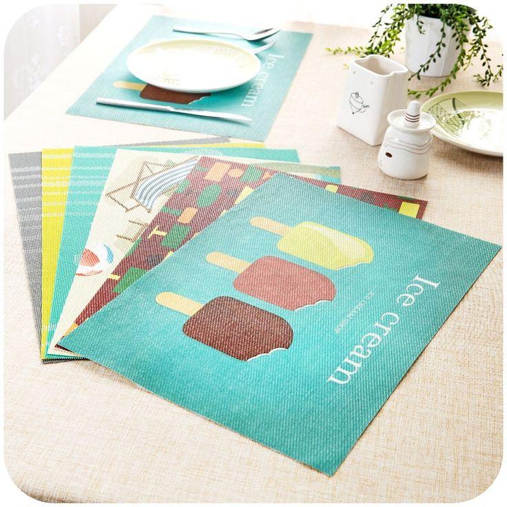 Maison Textile - Cuisine & Linge de table - Napperons - (Entrepôt UE) Set de table Pvc mat imperméable tapis de table isolation Bol Tapis de plaque anti-chaude Lot de 4