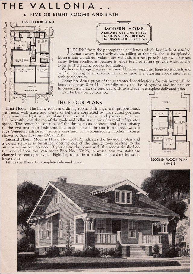 Sears Modern Homes Kit House - 1936 Vallonia - Craftsman Bungalow