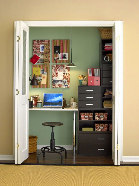 29 best {small workspace solutions} images on pinterest | closet