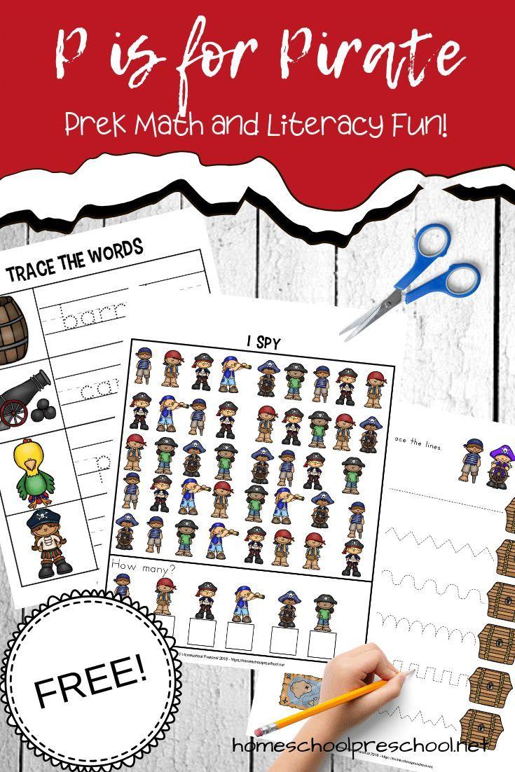 Preschool Pirate Theme Printables For Math And Literacy Preschool Pirate Theme Pirate Activities Pirate Preschool [ 1102 x 735 Pixel ]