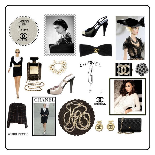 Dress Like A Lady! by whirlypath on Polyvore featuring Chanel, Juliska and vintage