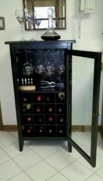 21 best wine glass cabinet images on pinterest wine cabinets wine amazon winsome wood wine cabinet with glass door espresso home eventshaper