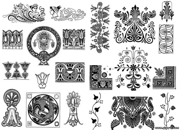 Орнаменты. Египетский орнамент, греческий орнамент - Интерьер, дизайн - Каталог статей - Giga Style - все тонкости комфорта и стиля для Вас