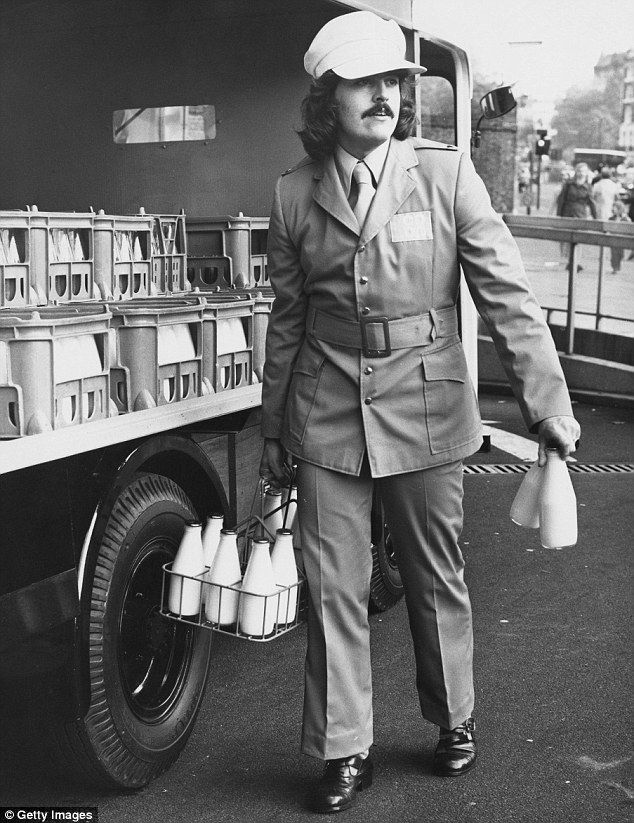 1972: The winning entry in the Co-op National Milkmen's Uniform Design Competition, supposedly favoured by British housewives