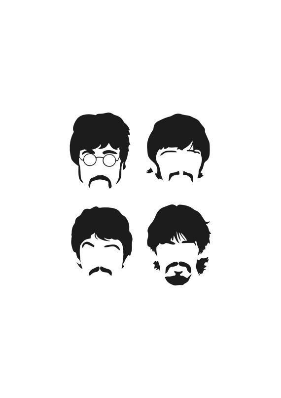 This Beatles Minimalist  Poster  by WordsCouncil is an excellent example of using positive and negative space to bring an image to life.