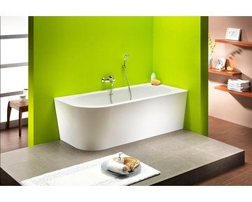 Ab- und Überlaufgarnitur mit Wannenfüllfunktion auf Bestellung lieferbar ✓ Freistehende Badewanne Modena Corner 178 cm x 78 cm Weiß Links bei OBI