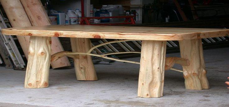 best 25 rustic log furniture ideas on pinterest log furniture log table and tree stump furniture. Black Bedroom Furniture Sets. Home Design Ideas