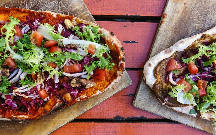 Indische Naan #Pizza kann man am #Berliner Prenzlauer Berg essen © Katharina Serles