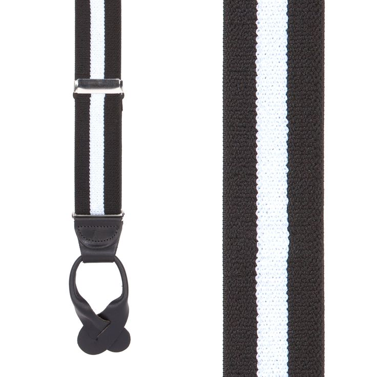 Stripes, Dots, Checks Button Suspenders - 1.5 Inch Wide