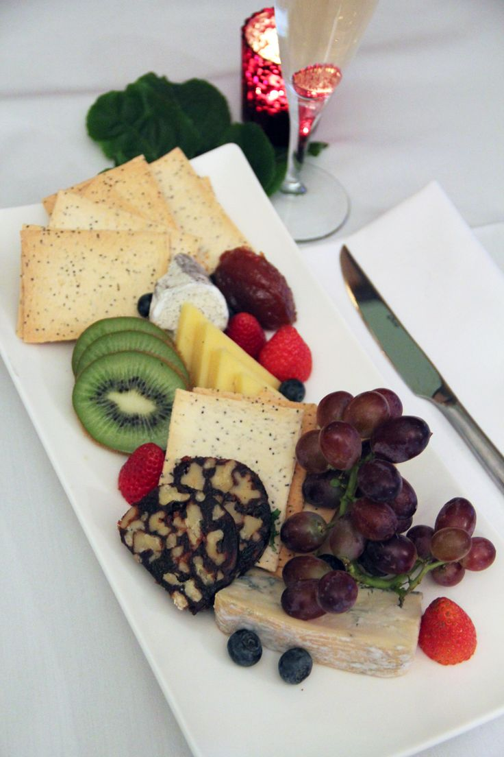 Cheese Plate: Chef's selection of the finest Australian cheeses, served with fruit and lavosh.