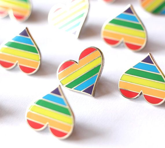 Pride pin, gay lapel pin button, gay pin, colorful heart pin, cool bag decoration, gay decoration, gay flag, LGBT community, LGBT flag pin